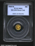 California Fractional Gold: , 1860/56 50C BG-1014