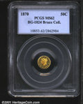 California Fractional Gold: , 1870 50C BG-1024