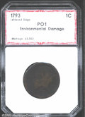 Additional Certified Coins: , 1793WREATH 1C LET EDGE, BN