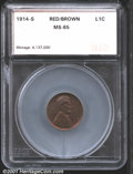 Additional Certified Coins: , 1914-S 1C, RB