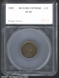 Additional Certified Coins: , 1922 1C NO D, BN