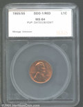 Additional Certified Coins: , 1955 1C DBLD DIE, RD