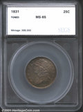 Additional Certified Coins: , 1831 25C Large Lett