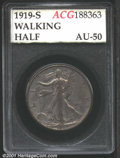 Additional Certified Coins: , 1919-S 50C