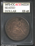 Additional Certified Coins: , 1872-CC S$1