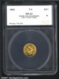 Additional Certified Coins: , 1855 G$1 TYPE 2