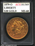 Additional Certified Coins: , 1879-O $20
