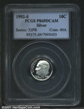 Proof Roosevelt Dimes: , 1992-S 10C SILVER, DC