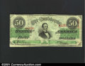 Confederate Notes:1863 Issues, 1863 $50 Black with green overprint; Jefferson Davis, T-57, VF....