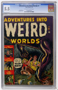 Golden Age (1938-1955):Horror, Adventures Into Weird Worlds #1 (Atlas, 1952) CGC FN- 5.5 Off-whiteto white pages....