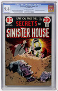 Bronze Age (1970-1979):Horror, Secrets of Sinister House #11 (DC, 1973) CGC NM 9.4 Off-white towhite pages....