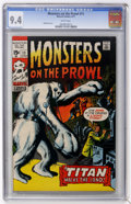 Bronze Age (1970-1979):Horror, Monsters on the Prowl #11 (Marvel, 1971) CGC NM 9.4 White pages....