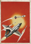 "Original Comic Art:Covers, Allen Simon - Classics Illustrated Special Edition #159A ""Rockets,Jets, and Missiles"" Painted Cover Original Art (Gilberton, ..."