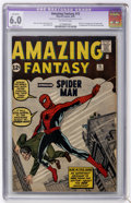 Silver Age (1956-1969):Superhero, Amazing Fantasy #15 (Marvel, 1962) CGC Apparent FN 6.0 Slight (A)Off-white pages....