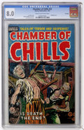 Golden Age (1938-1955):Horror, Chamber of Chills #22 File Copy (Harvey, 1954) CGC VF 8.0 Cream tooff-white pages....
