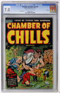 Golden Age (1938-1955):Horror, Chamber of Chills #23 (#3) File Copy (Harvey, 1954) CGC FN/VF 7.0Cream to off-white pages.... (Total: 0)