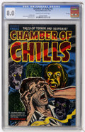 Golden Age (1938-1955):Horror, Chamber of Chills #15 File Copy (Harvey, 1953) CGC VF 8.0 Cream tooff-white pages....