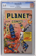 Golden Age (1938-1955):Science Fiction, Planet Comics #63 (Fiction House, 1949) CGC GD/VG 3.0 Brittlepages....