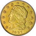 Early Quarter Eagles: , 1827 $2 1/2 AU55 PCGS. Breen-6131, BD-1, R.5. This is the onlyknown variety of 1827 quarter eagles and it is doubtful that...