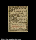 Colonial Notes:Continental Congress Issues, Continental Currency February 17, 1776 $1/3 Superb Gem New....