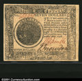 Colonial Notes:Continental Congress Issues, Continental Currency September 26, 1778 $7 Gem New. A lovel...