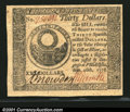 Colonial Notes:Continental Congress Issues, Continental Currency September 26, 1778 $30 Gem New. Broadl...