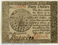 Colonial Notes:Continental Congress Issues, Continental Currency September 26, 1778 $40 Gem New. Good p...