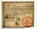 Colonial Notes:Georgia, Georgia September 10, 1777 $1 About New. An extremely high-...