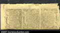 Colonial Notes:Massachusetts, Massachusetts October 16, 1778 2d, 8d, 4s6d Uncut Strip of Th...