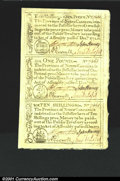 Colonial Notes:North Carolina, North Carolina December, 1771 Uncut Sheet of Three Superb Gem...