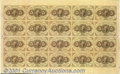Fractional Currency:First Issue, Fr. 1230 5¢ First Issue Complete Sheet of Twenty Extremely Fi...