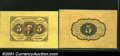 Fractional Currency:First Issue, Fr. 1231SP 5¢ First Issue Wide Margin Pair Gem New. A gorge...