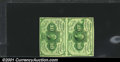 Fractional Currency:First Issue, Fr. 1242 10¢ First Issue Vertical Pair About New. The top n...