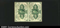 Fractional Currency:First Issue, Fr. 1242 10¢ First Issue Vertical Pair Extra Fine. This nea...