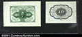 Fractional Currency:First Issue, Fr. 1243SP 10¢ First Issue Specimen Pair. The back is not f...