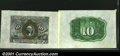 Fractional Currency:Second Issue, Fr. 1244 10¢ Second Issue Wide Margin Pair Gem New. A well-...