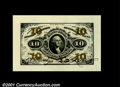 Fractional Currency:Third Issue, Fr. 1255SP 10¢ Third Issue Wide Margin Pair Gem New. Both f...