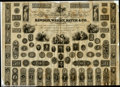 Miscellaneous:Other, Salesman's Sample Sheet. A specimen sheet from bank note en...