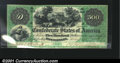 Confederate Notes:1861 Issues, T2 $500 1861. A magnificent example of this rarity, courtes...