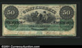 Confederate Notes:1861 Issues, T4 $50 1861. The last of the Montgomery issues, and a most ...