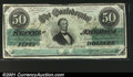 Confederate Notes:1862 Issues, T50 $50 1862. A lovely example from the Dr. Walter B. Jones...