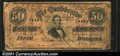 """Confederate Notes:1864 Issues, T66 $50 1864. A Confederate """"Short Snorter,"""" with numerous ..."""