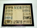 Confederate Notes:1864 Issues, A Framed Group of Confederate Notes with a letter from the U....