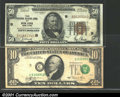Error Notes:Shifted Third Printing, Two minor shift errors, including: $50 1929 FRBN EF, ve...