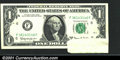 Error Notes:Foldovers, Fr. 1901-F $1 1963A Federal Reserve Note. Choice About Uncirc...