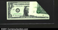 Error Notes:Foldovers, Fr. 1908-L $1 1974 Federal Reserve Note. Gem Crisp Uncirculat...