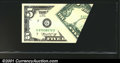 Error Notes:Foldovers, Fr. 1973-G $5 1974 Federal Reserve Note. Gem Crisp Uncirculat...