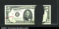 Error Notes:Ink Smears, Fr. 1970-B $5 1963A Federal Reserve Note. About Uncirculated....