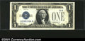 Error Notes:Obstruction Errors, Fr. 1600 $1 1928 Silver Certificate. CGA Choice Uncirculated ...