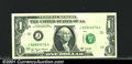 Error Notes:Obstruction Errors, Fr. 1909-J $1 1977 Federal Reserve Note. Gem Crisp Uncirculat...